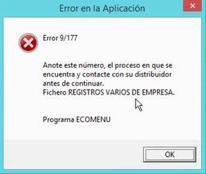 mensaje de error 9/177