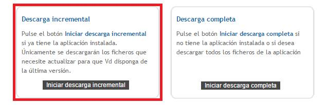Descarga incremental