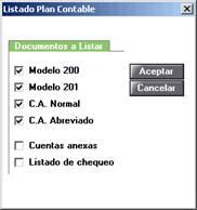 Listado Plan Contable