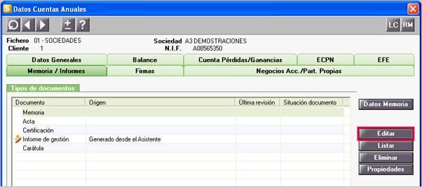 Datos Cuentas Anuales