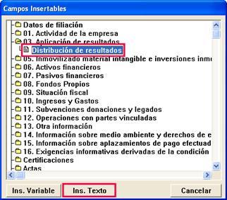 Campos insertables