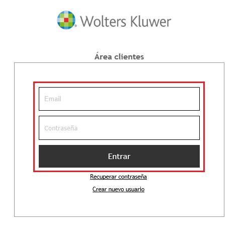 Acceso Area de Clientes