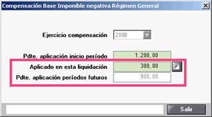 Compensación Base Imponible negativa Régimen General