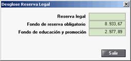 Desglose Reserva legal