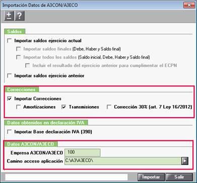 Importación Datos de a3ASESOR   con   eco
