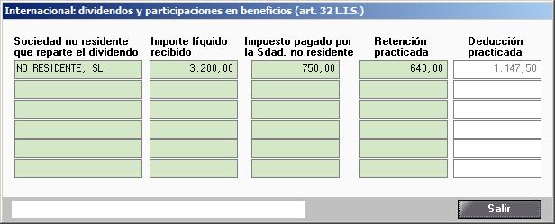 Internacional dividendos y participaciones en beneficios art 32