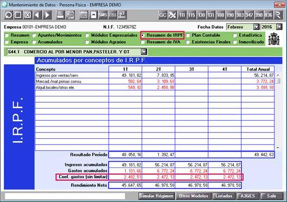 Resumen IRPF