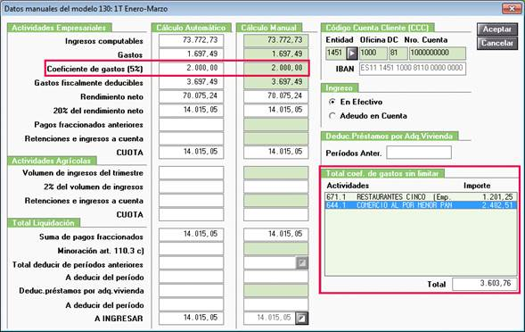 Modelo 130 datos manuales