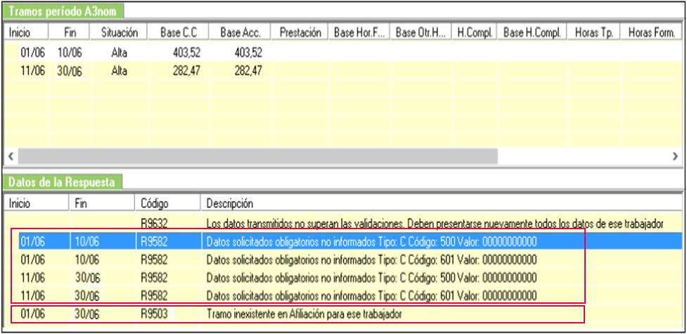 errores R9503 R9582