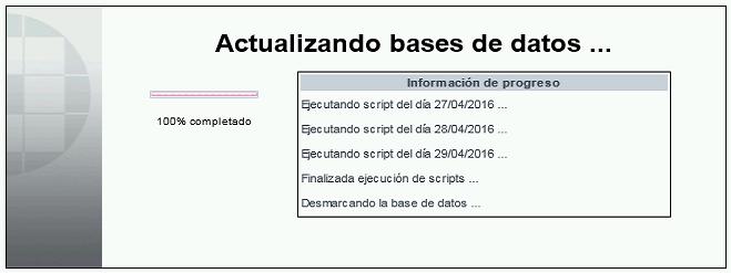 actualizando bases datos