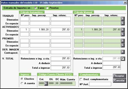 Datos manuales modelo 110 111