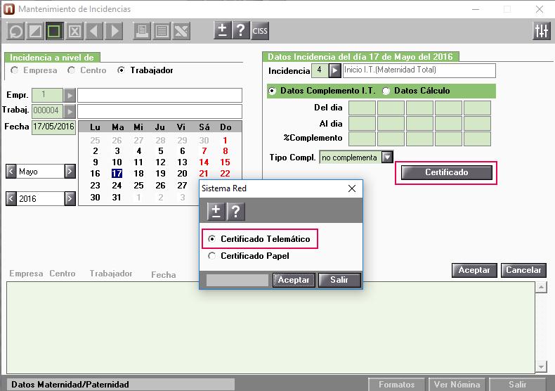 Comunicacion Telematica Del Certificado De Maternidad Y Paternidad
