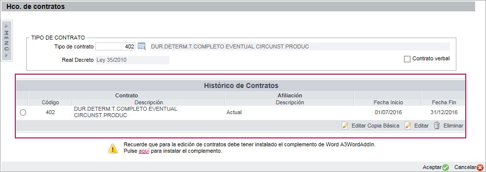 hco contratos