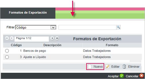 formato exportacion
