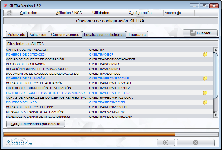localizacion ficheros