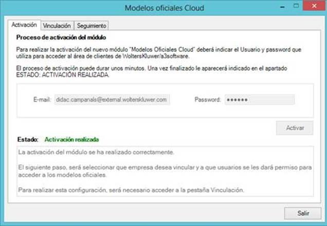 Activación modelos cloud