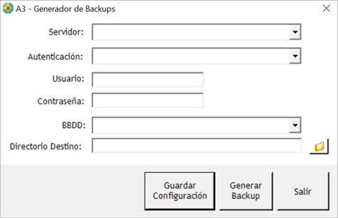 Generar backup