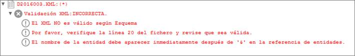 error formato datos bancarios