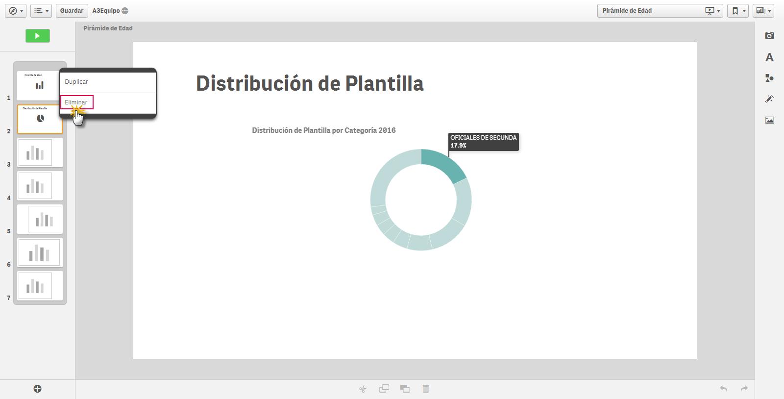 distribucion plantilla eliminar