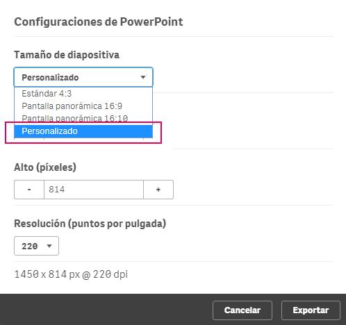 configuraciones powerpoint personalizado