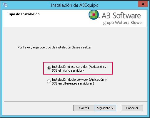 instalacion unico servidor