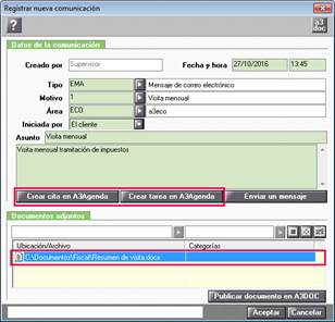 Registro de comunicaciones