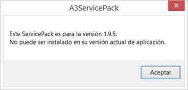 nuevo mensaje service pack