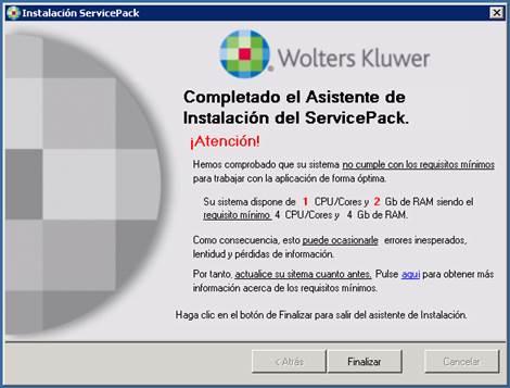 pantalla instalacion service pack