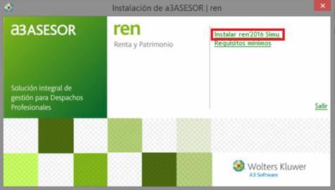 Instalación de a3ASESOR | ren