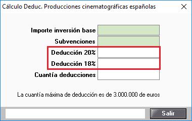 Deducción por inversiones por producciones cinematográficas españolas