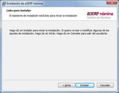instalacion a3erp nomina