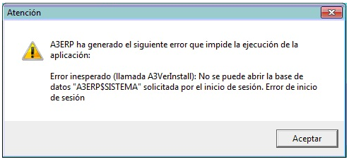 error a3erp