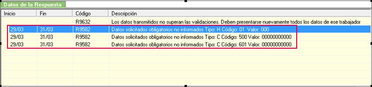 mensaje error R9582