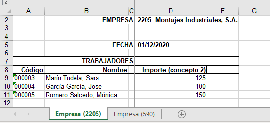 excel variables