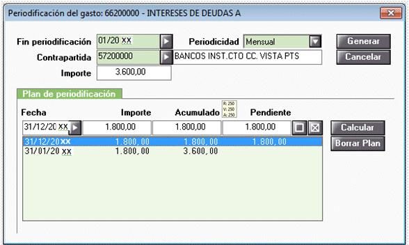 Periodificación generar plan