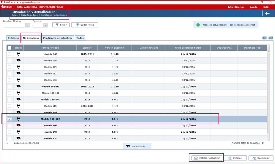 Programa validacion Hacienda instalacion