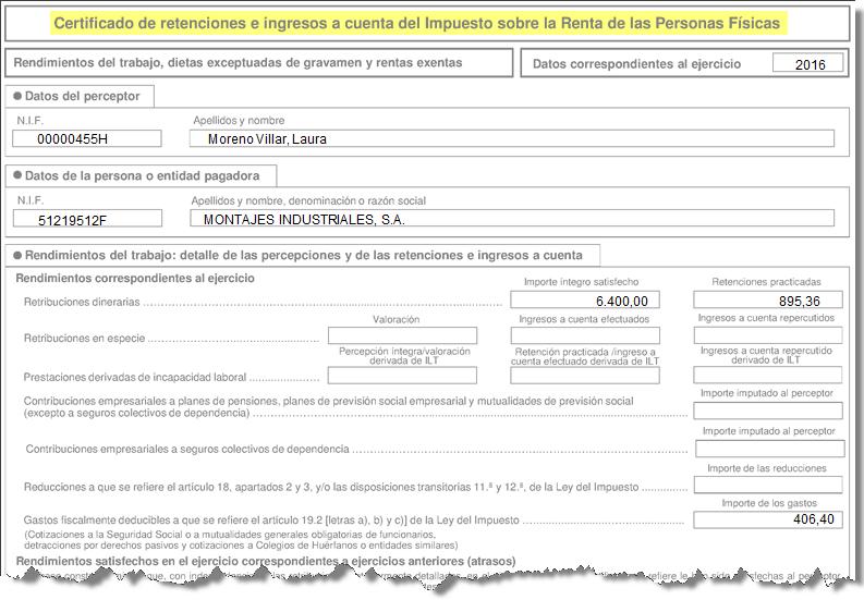 certifiicado ingresos retenciones residentes