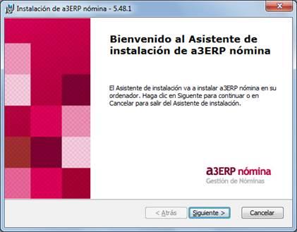 instalacion a3ERP|nomina
