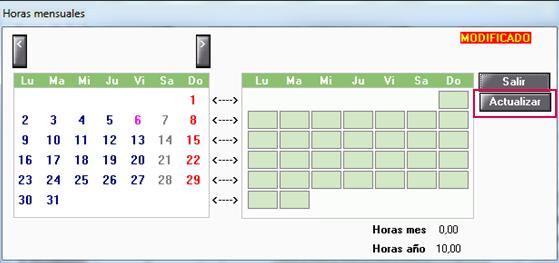 horas mensuales actualizar