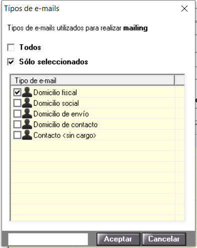 tipos mail