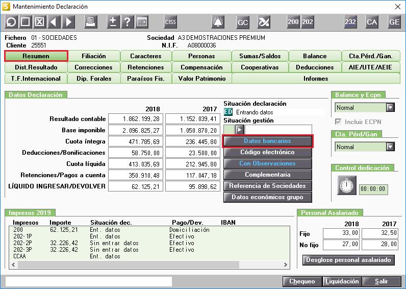 Resumen Datos Bancarios