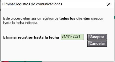 eliminar comunicaciones