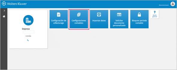 configuración contable