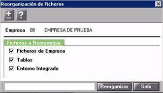 Reorganización de ficheros