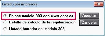Enlace modelo 303