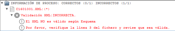 Error en la linea 3 al procesar el fichero XML