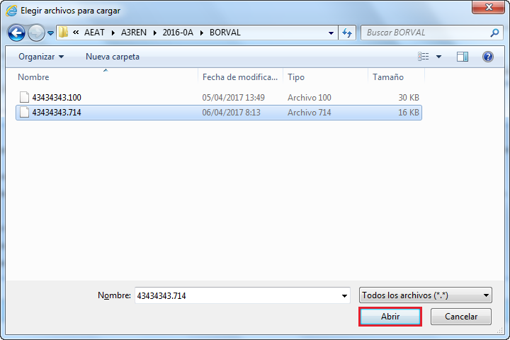 Elegir archivos para cargar