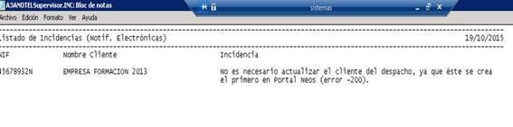 incidencias notificaciones electronicas