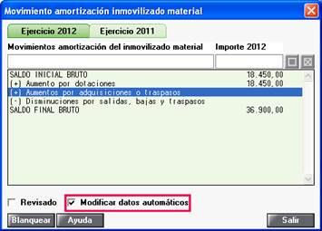 Modificar datos automáticos