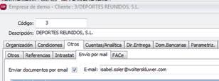Envío por mail